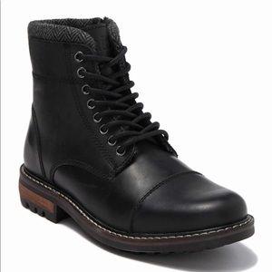 Crevo | Men's Regent Cap Toe Leather Lug Boot